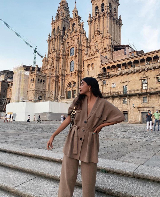 gilet long en maille avec ceinture de Zara sur zara.outfits
