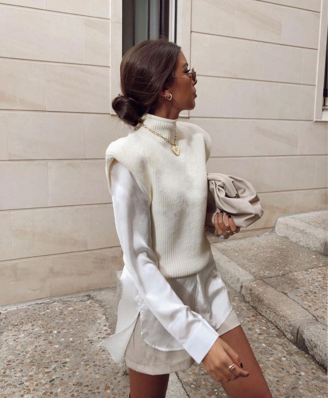 chemise en popeline à bouton de Zara sur zara.outfits