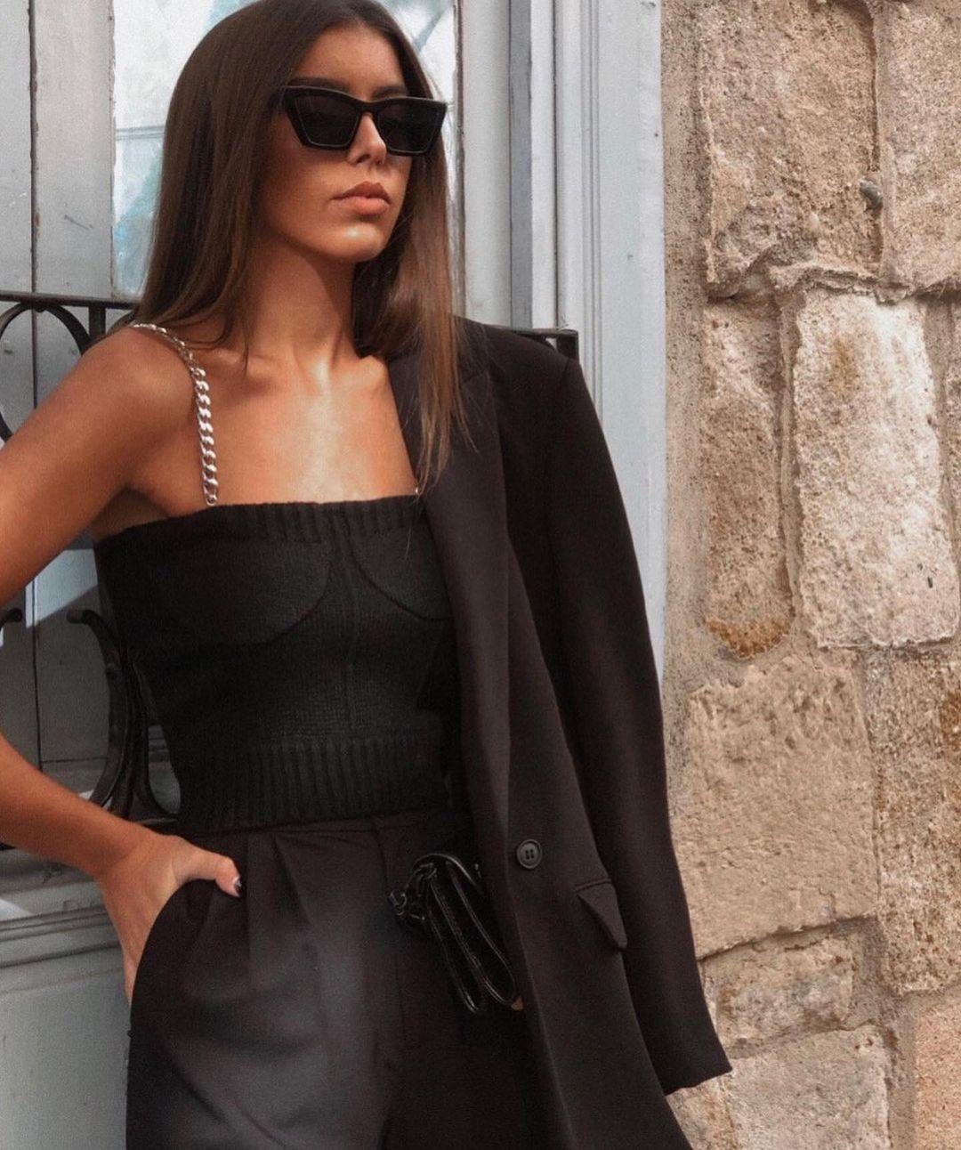 limited edition chain straps knit top de Zara sur zaraaddiction
