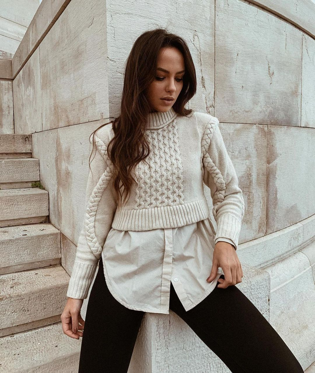 short jacquard sweater de Zara sur zaraaddiction