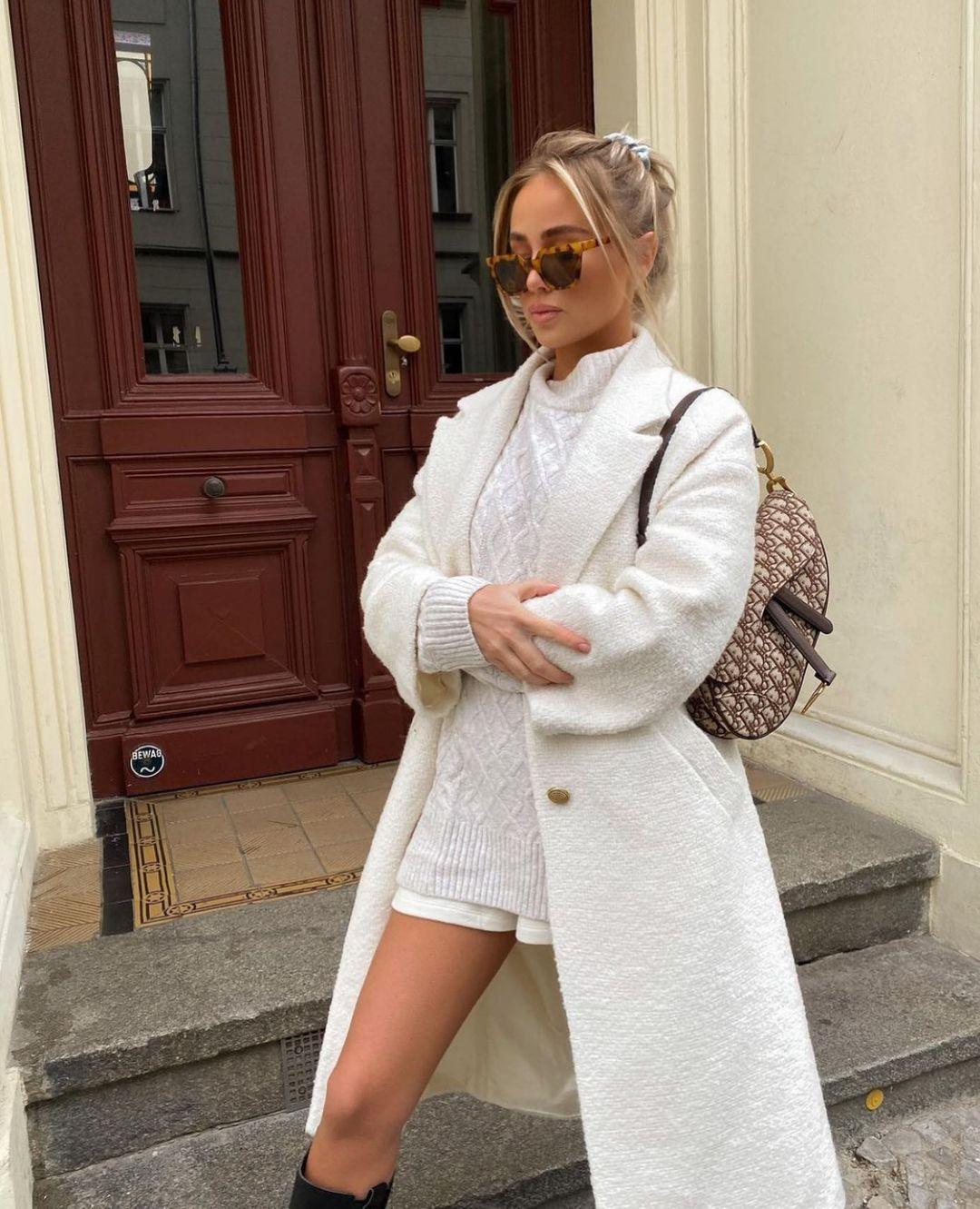 structured coat de Zara sur zarastreetstyle