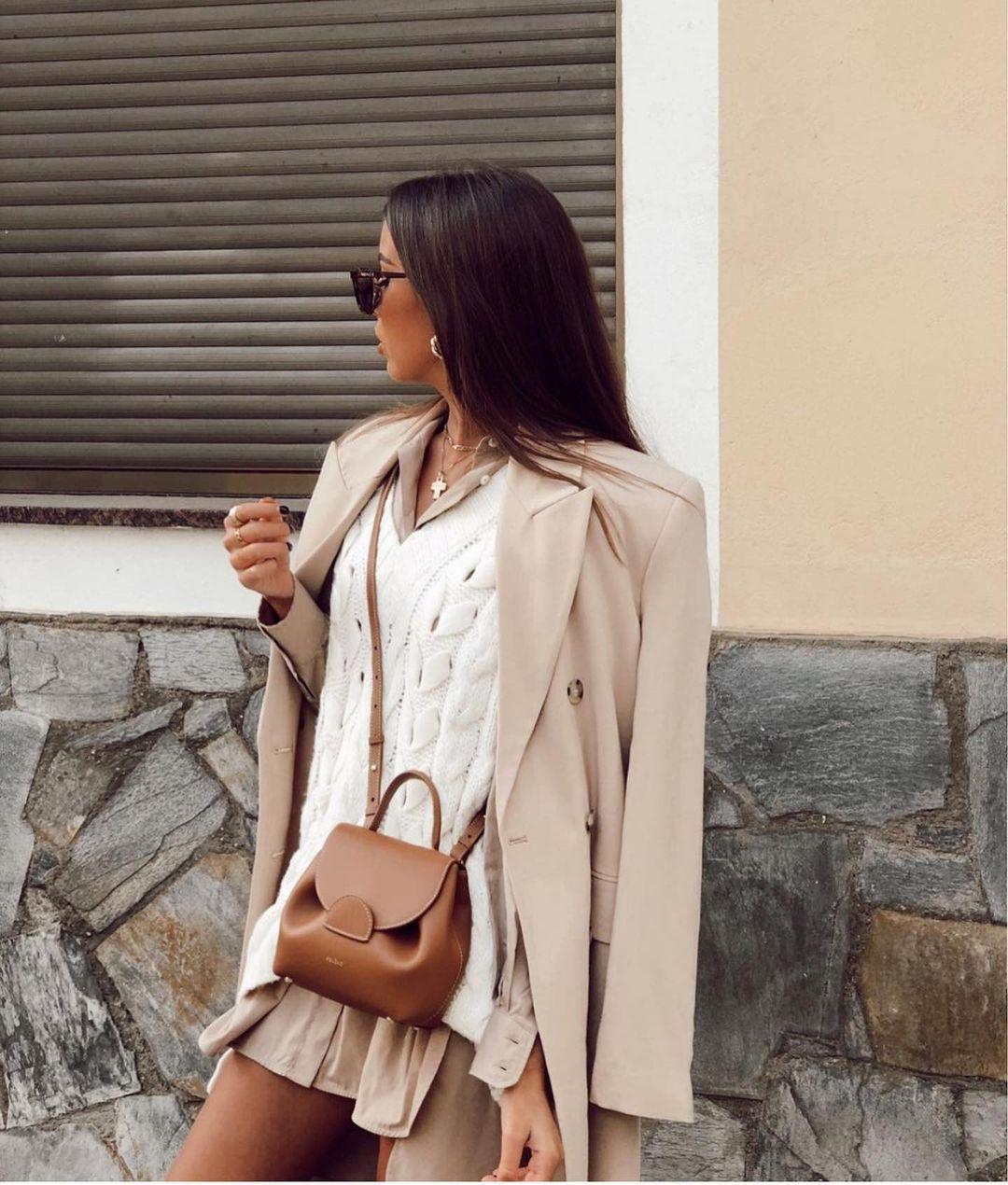 gilet en maille à torsades de Zara sur zara.outfits
