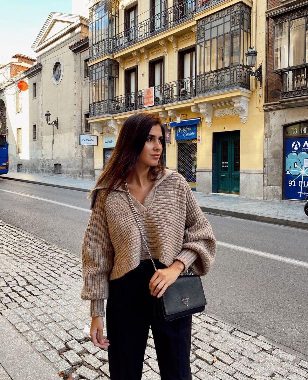 short knit sweater de Zara sur zarastreetstyle