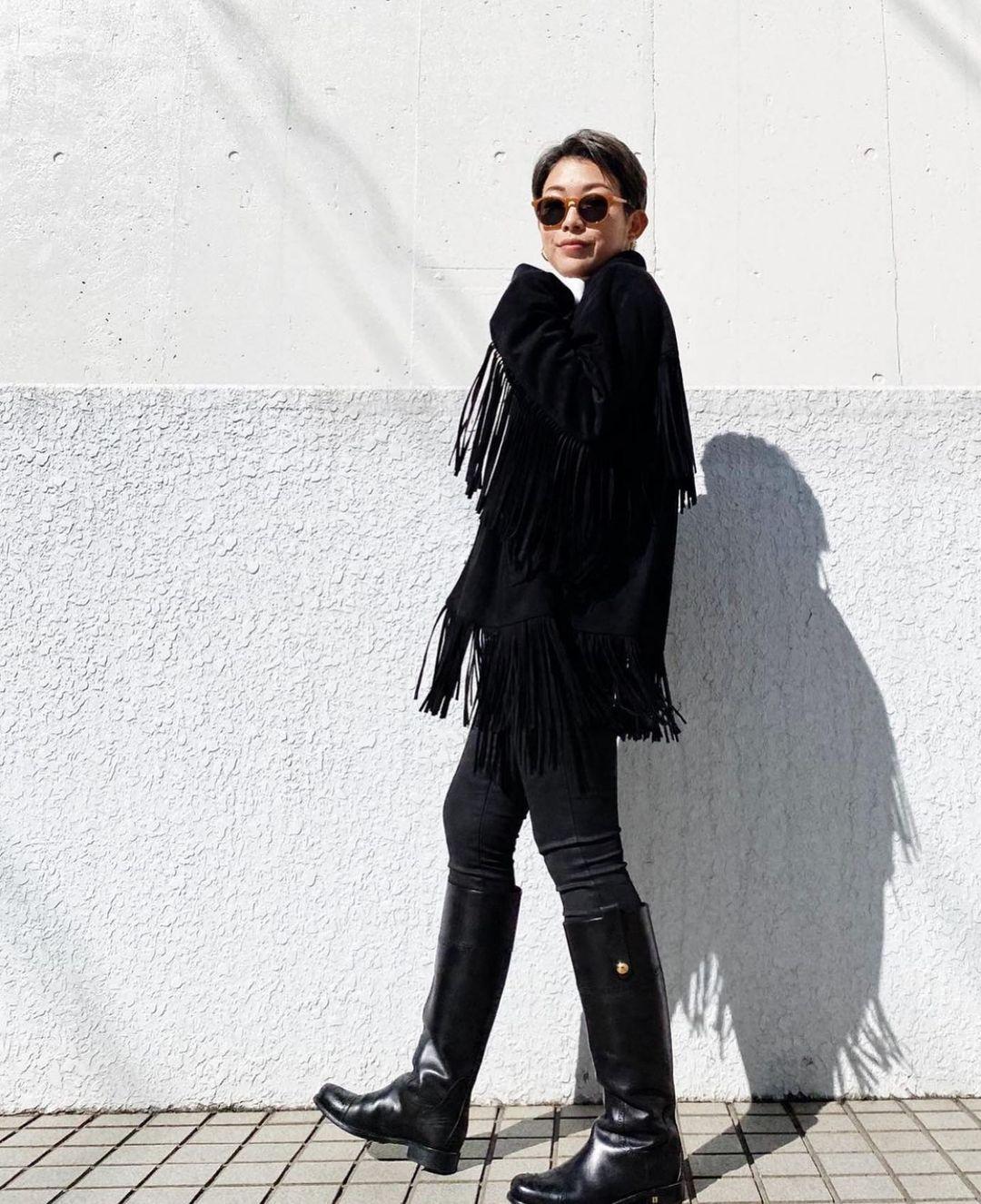 fringed leather overshirt de Zara sur zarastreetstyle