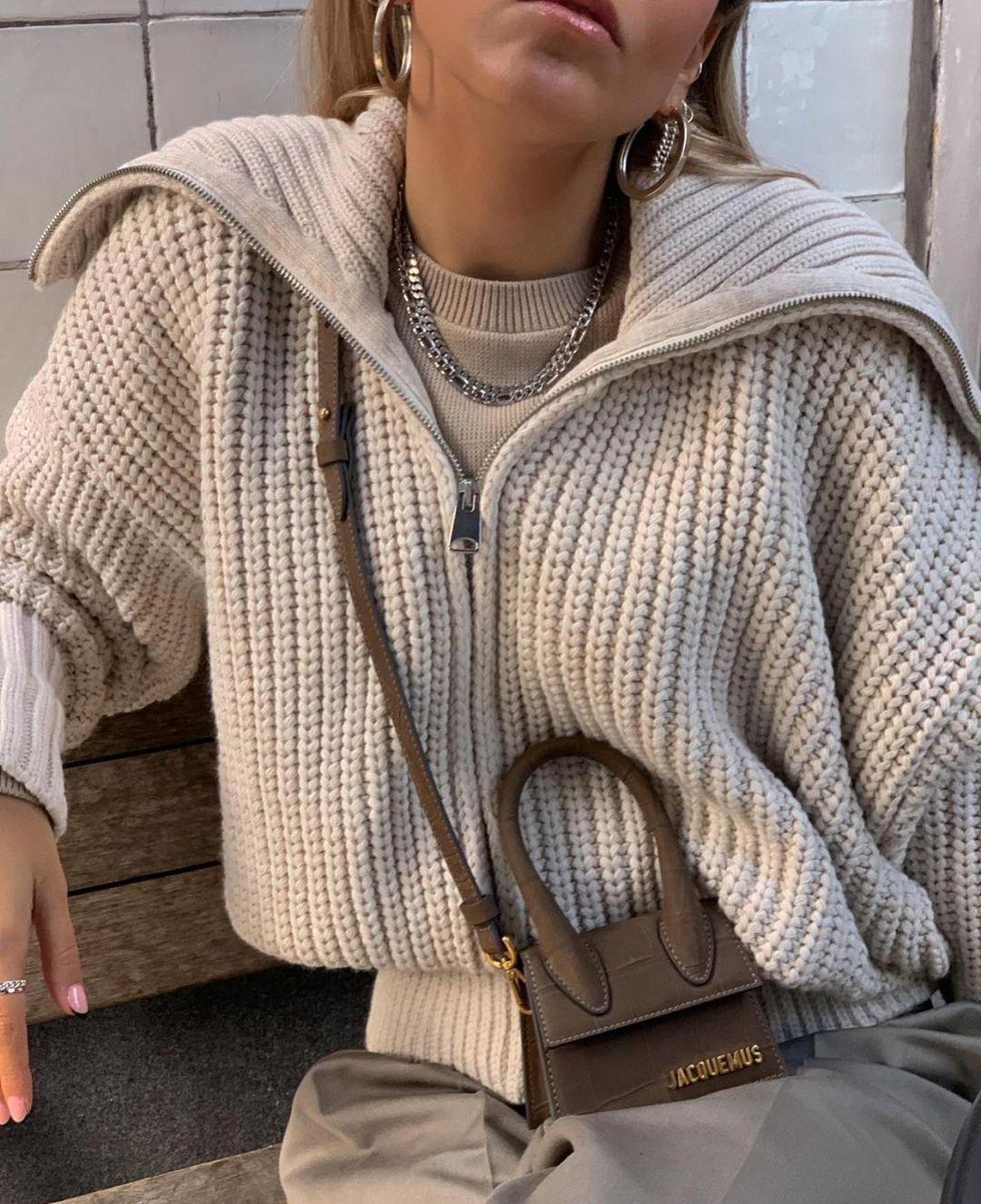 gilet en maille zippé de Zara sur zara.outfits