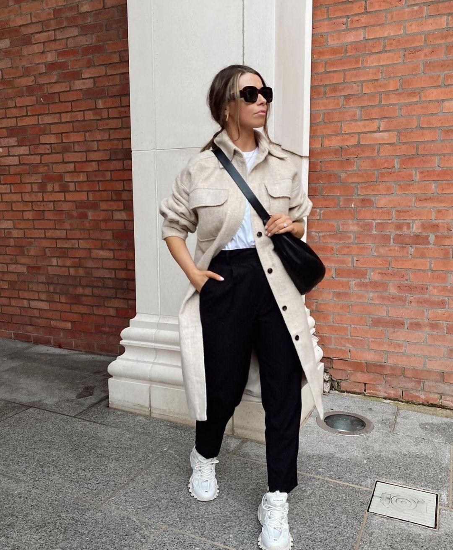 surchemise à carreaux avec laine de Zara sur zara.outfits