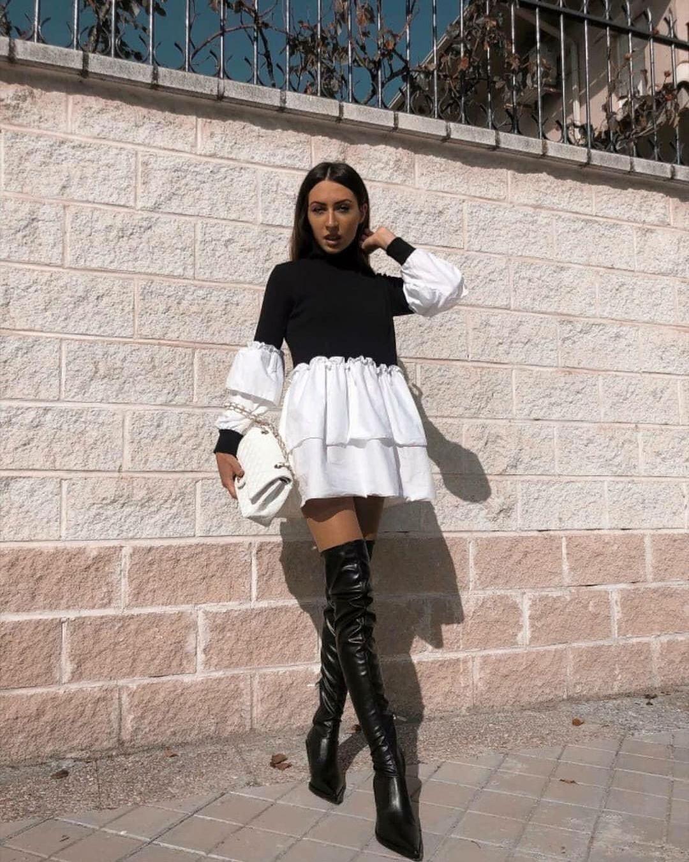 cowboy heeled knee high boots de Zara sur zaraaddiction