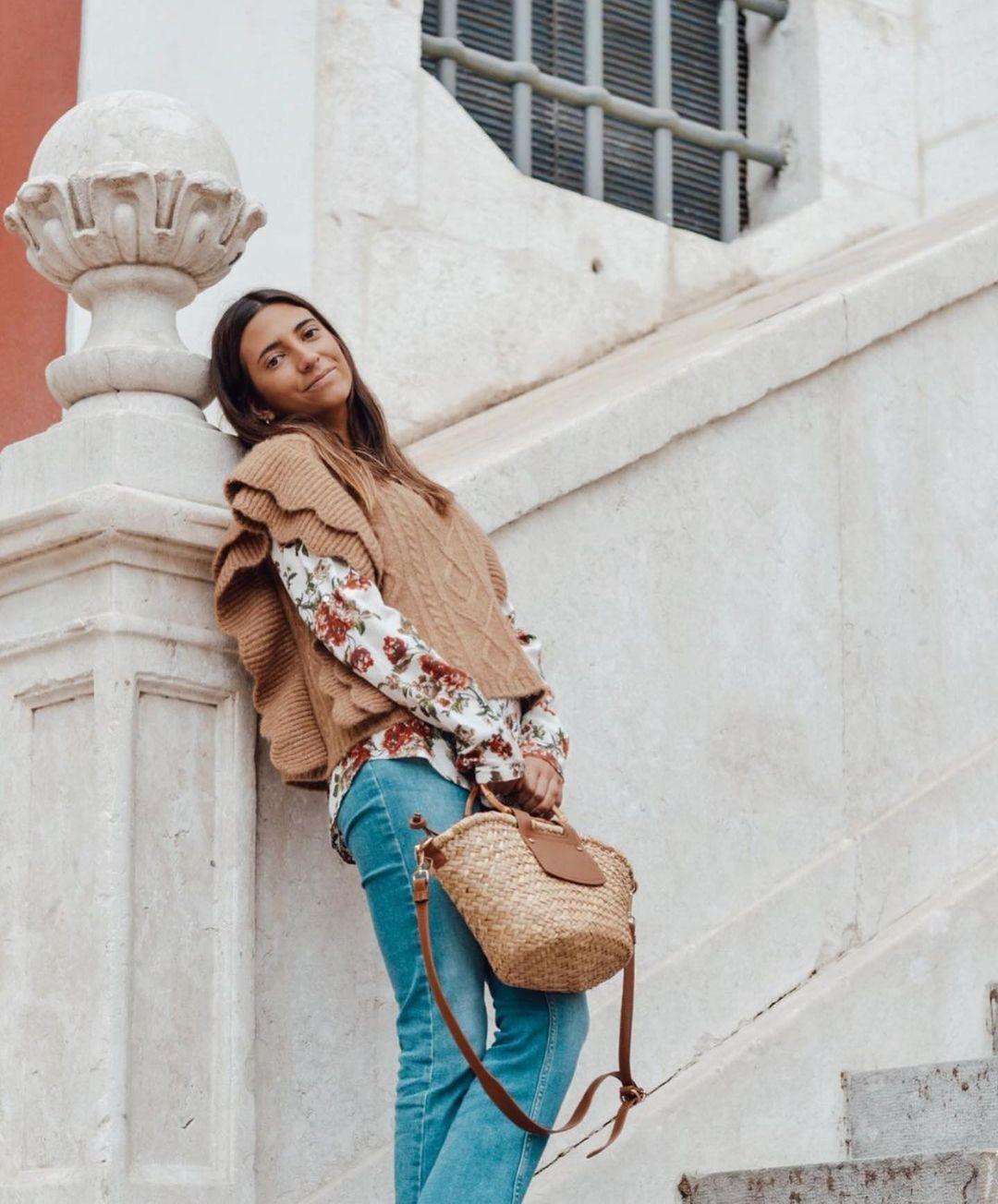 gilet sans manches en maille torsadée de Zara sur zara.outfits
