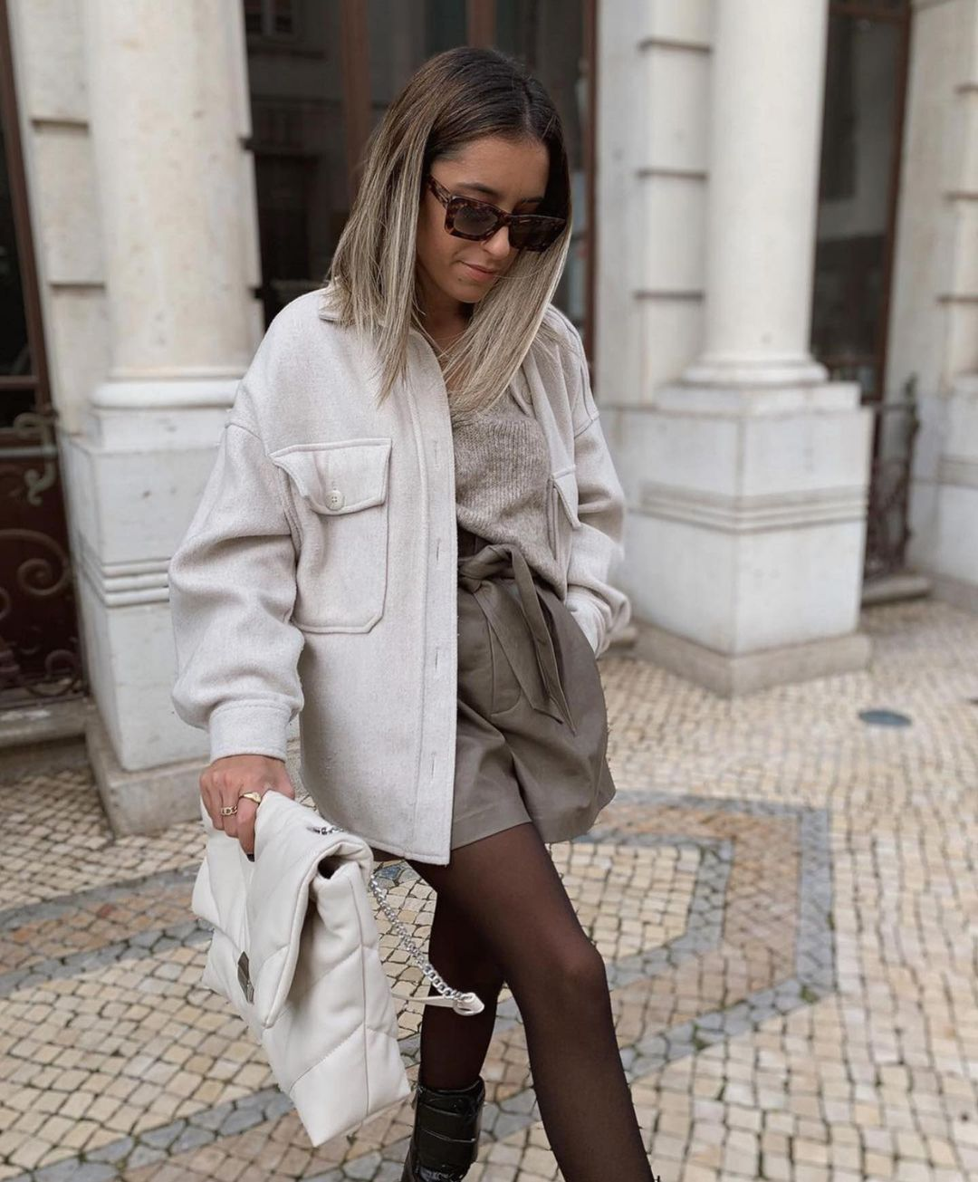 short en cuir synthétique de Zara sur zara.outfits