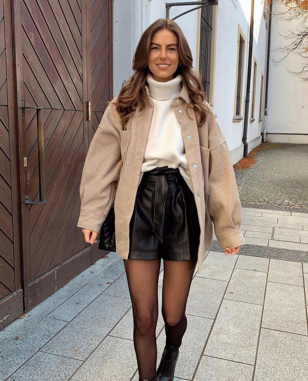 short effet cuir de Zara sur zara.outfits