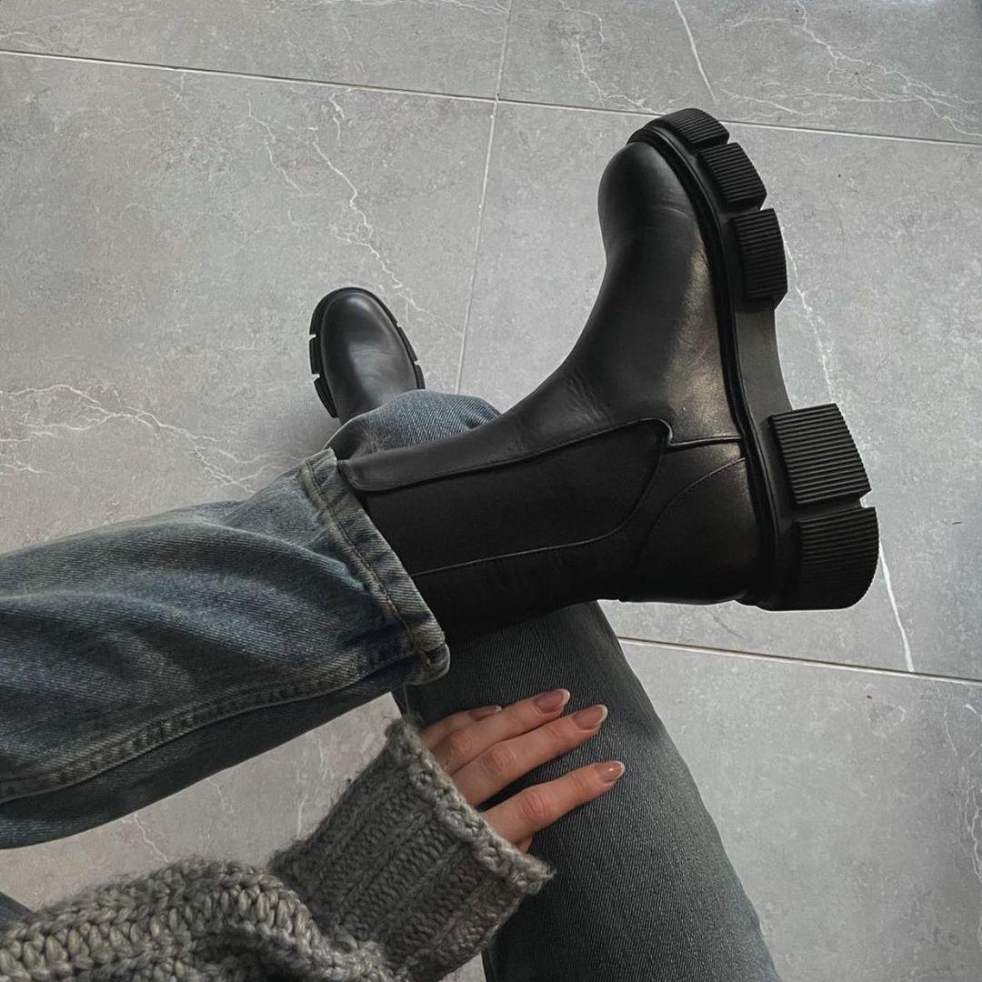 leather ankle boots track sole de Zara sur zaraaddiction