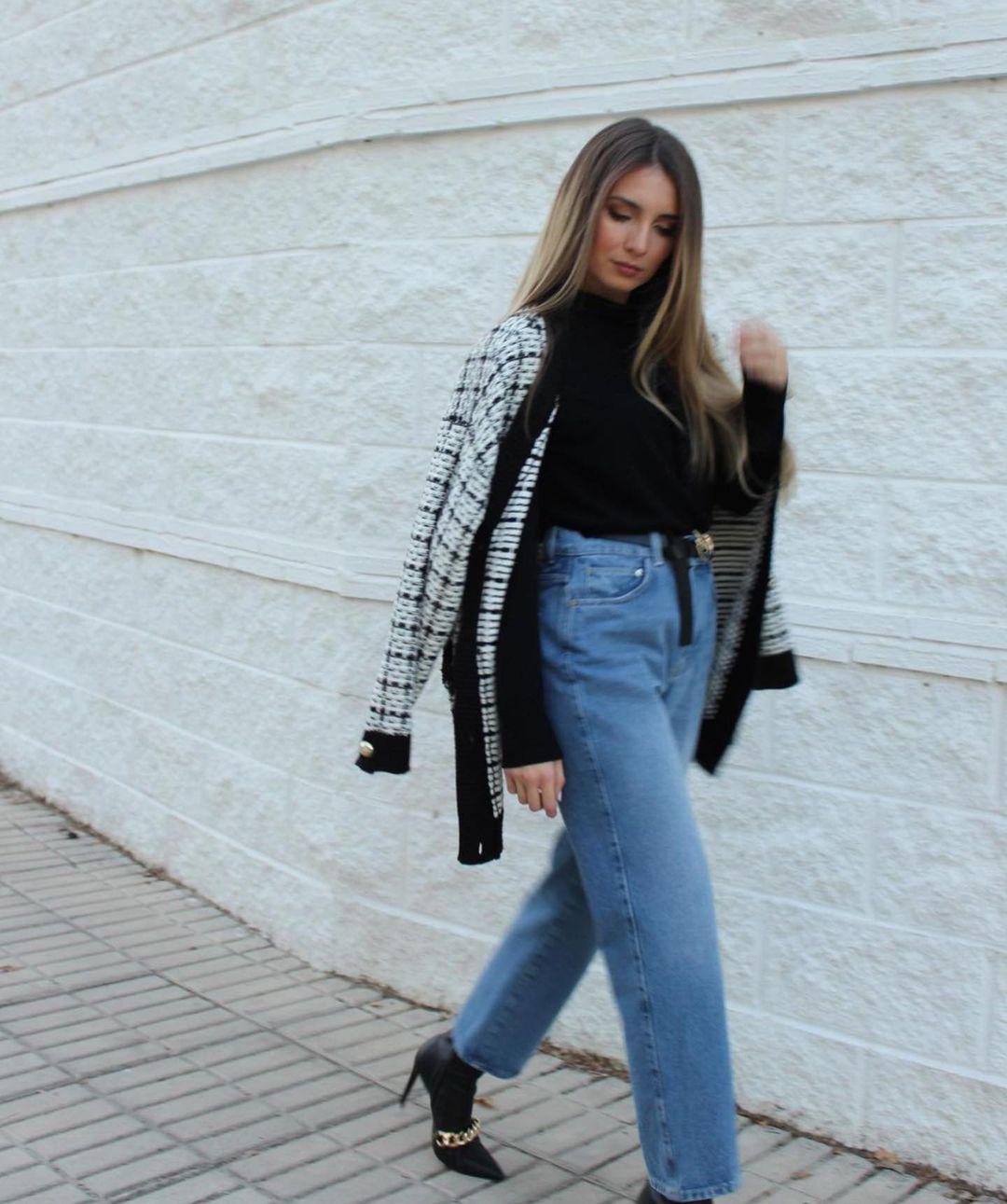 gilet oversize aspect tweed de Zara sur zara.outfits