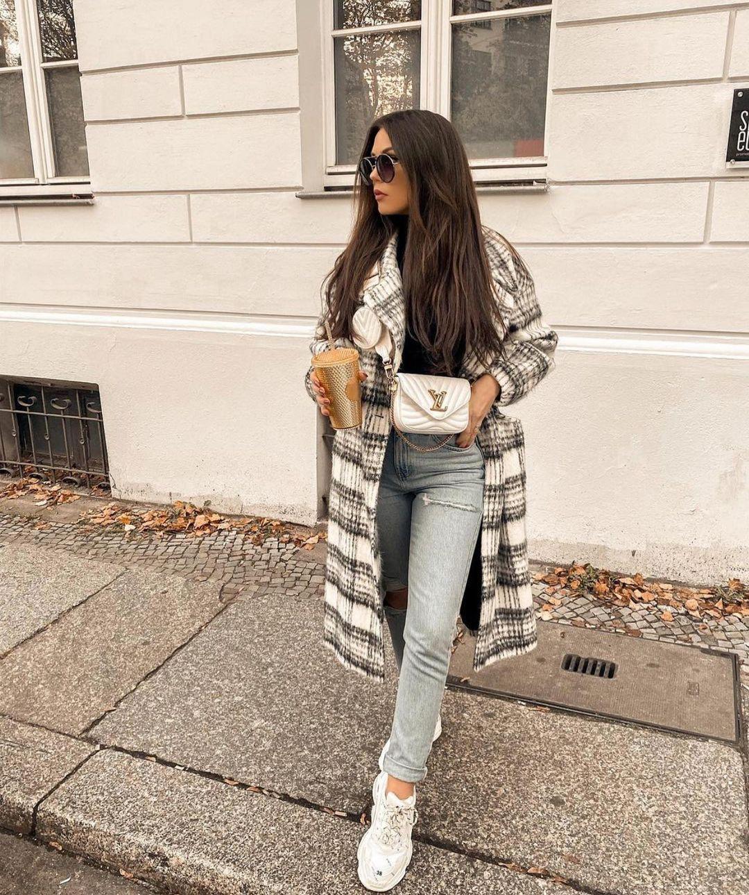 manteau à carreaux avec laine de Zara sur zara.outfits