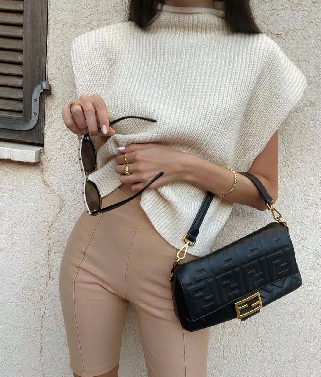 top en maille avec épaulettes de Zara sur zara.outfits