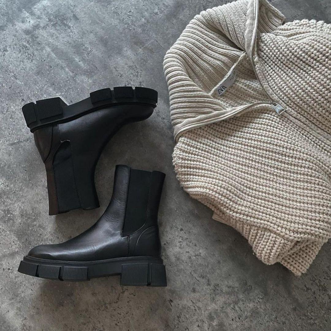zipped knit cardigan de Zara sur zaraaddiction