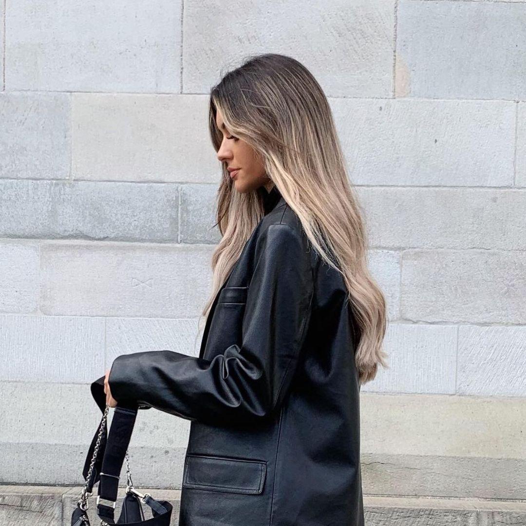 oversized synthetic leather jacket de Zara sur zaraaddiction