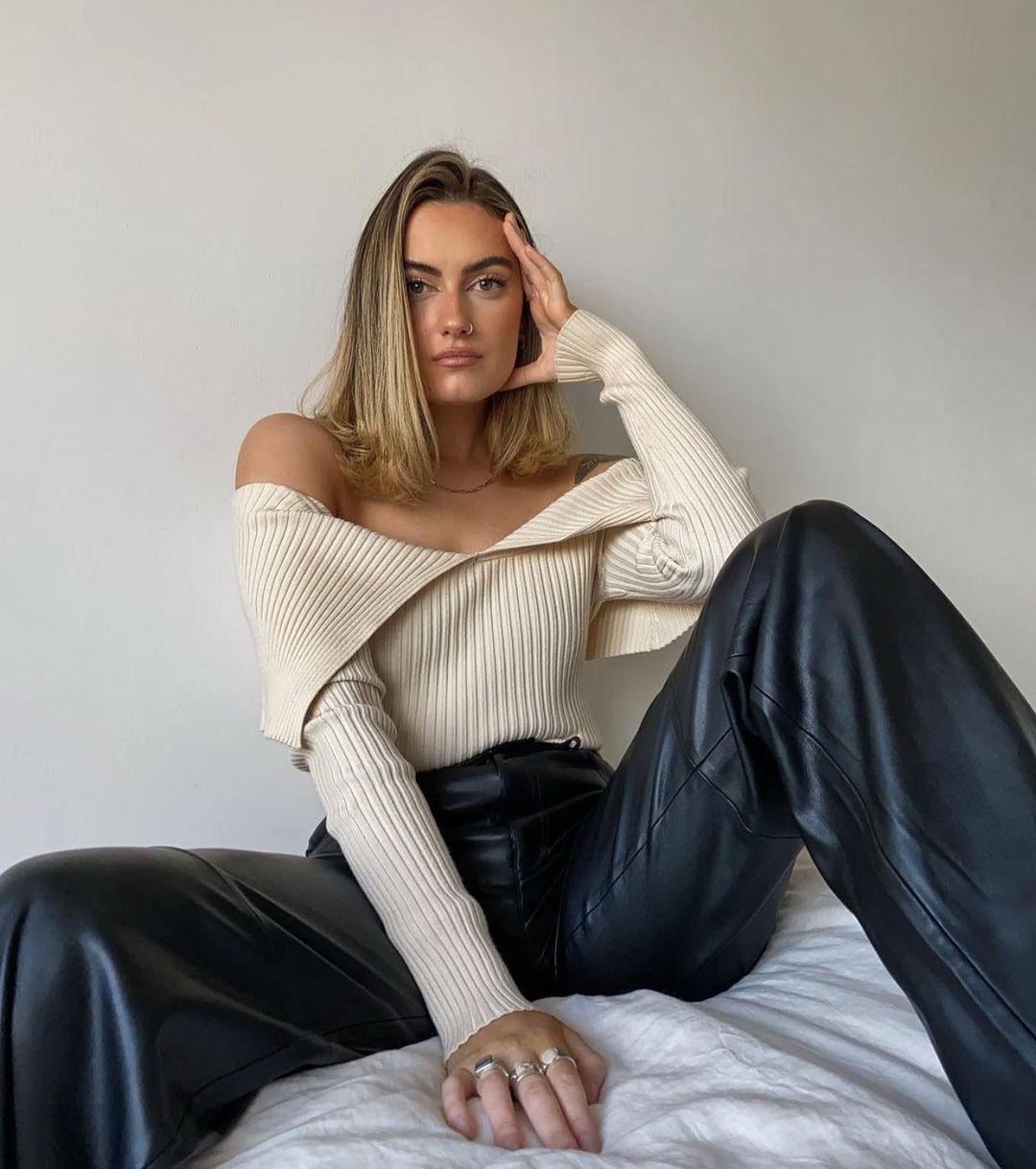 fitted knit top de Zara sur zaraaddiction