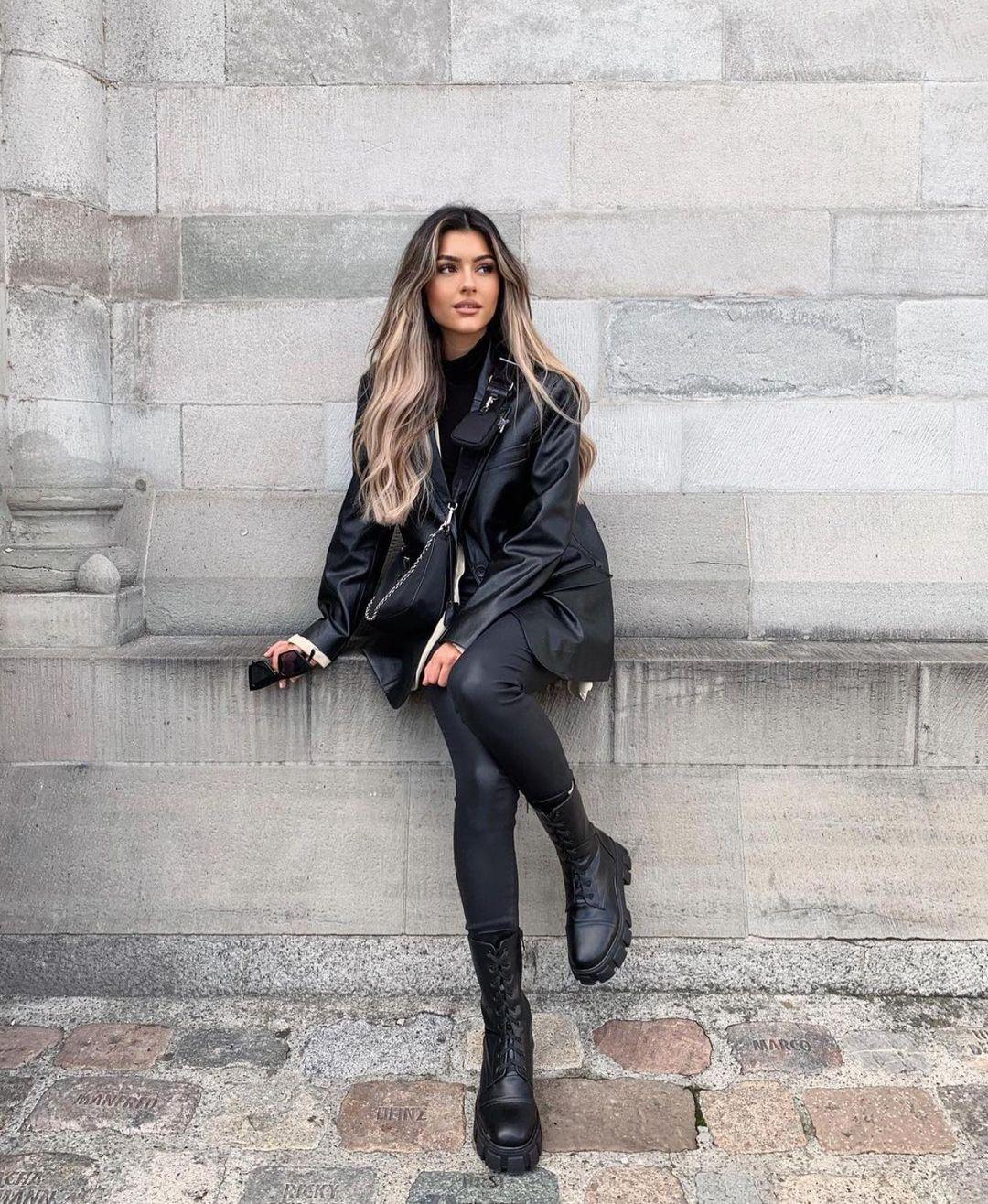 veste effet cuir de Zara sur zara.outfits