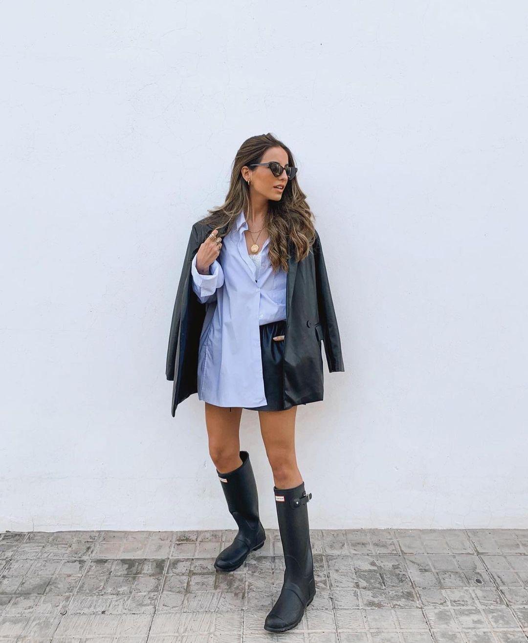 veste oversize en cuir synthétique de Zara sur zara.outfits