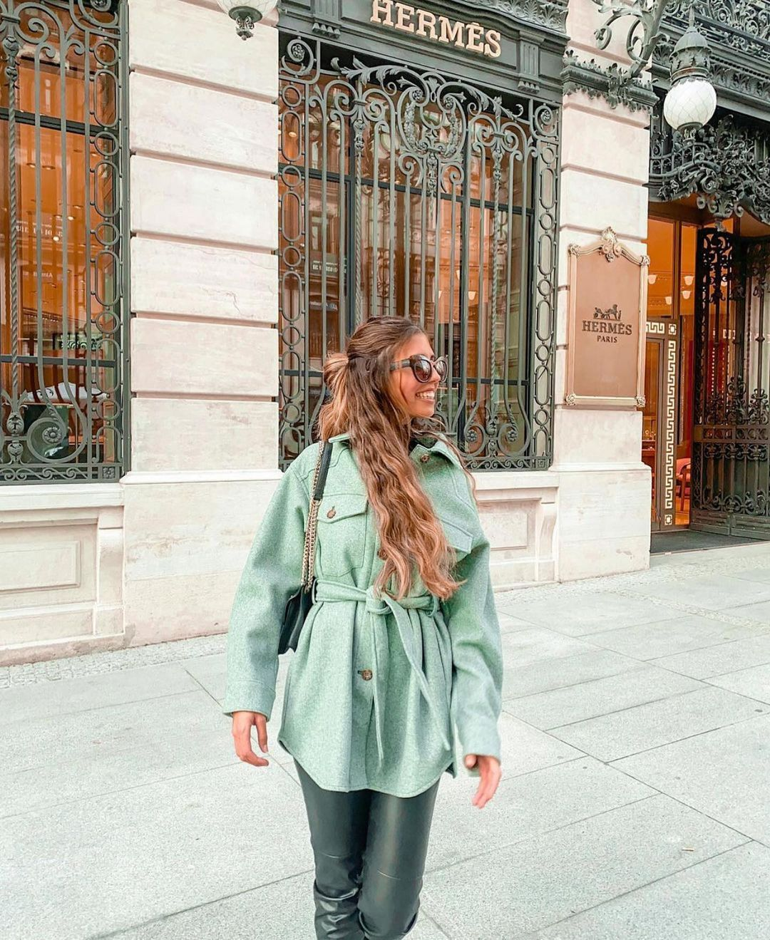 surchemise avec ceinture de Zara sur zara.outfits
