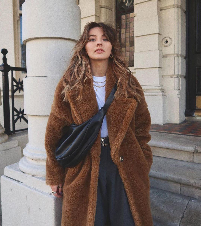 fur effect coat de Zara sur zaraaddiction