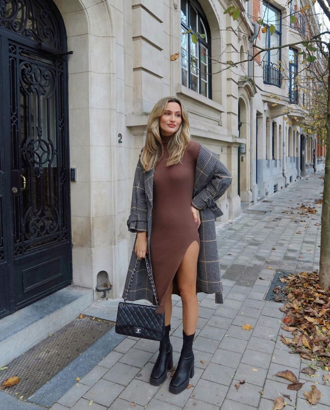plaid coat with wool de Zara sur zarastreetstyle