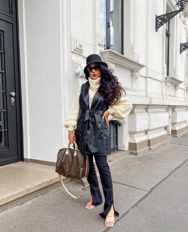 bi-stretch flare leggings de Zara sur zarastreetstyle