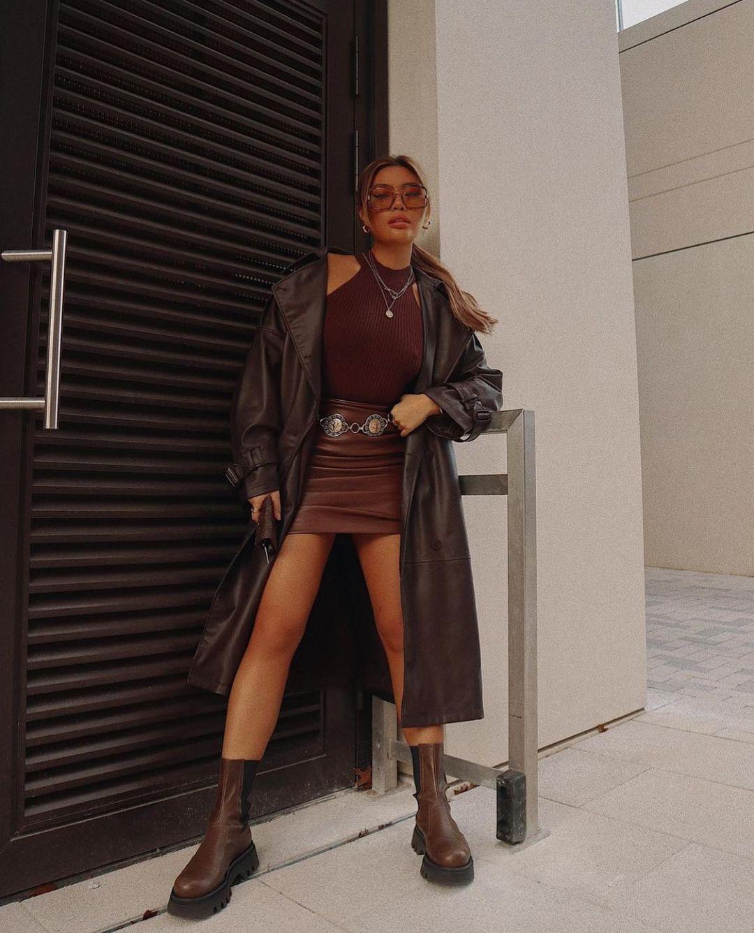 leather ankle boots track sole de Zara sur zarastreetstyle