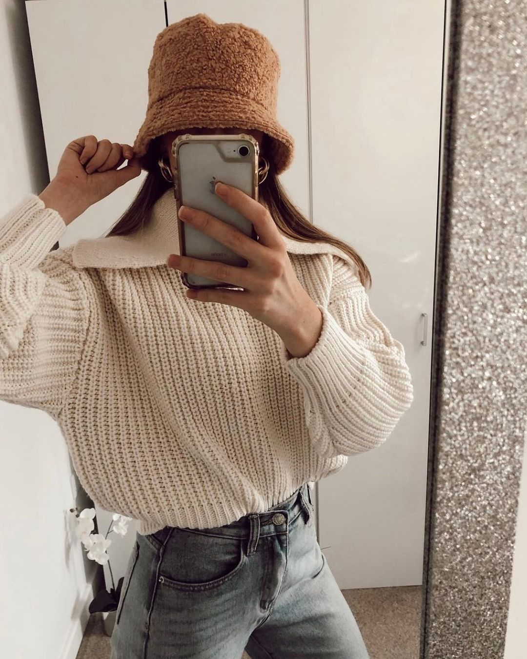 collared rib-knit jumper de H&M sur hm.addicted