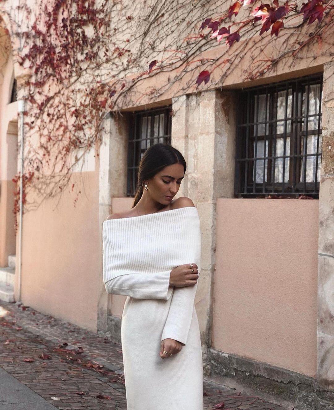 robe longue en maille de Zara sur zara.outfits