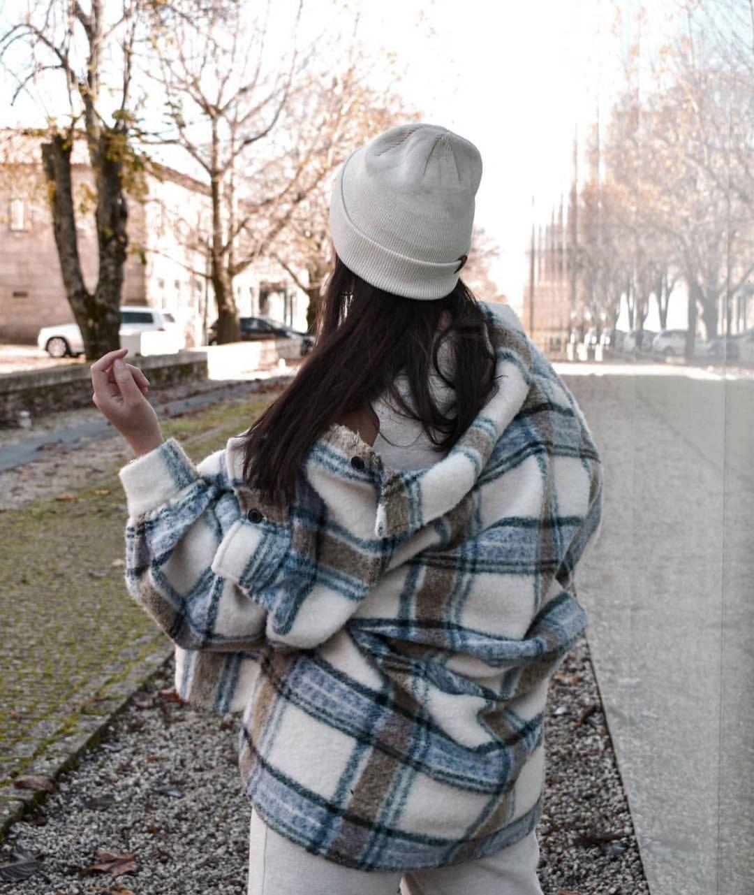 surchemise oversize à carreaux de Zara sur zara.outfits