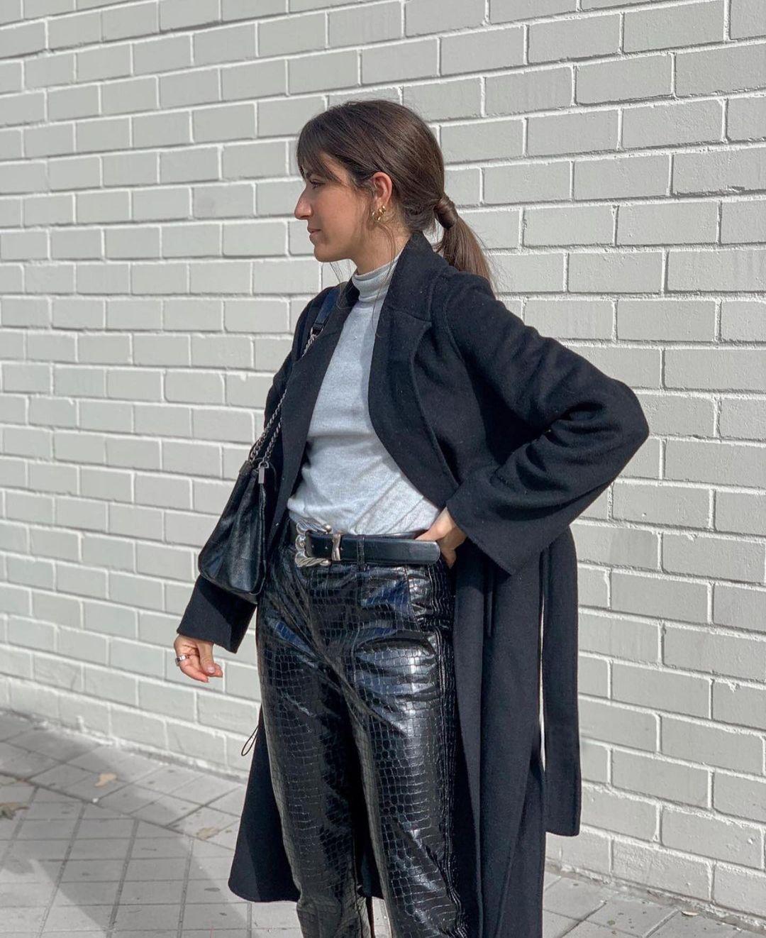 pantalon cigarette en cuir synthétique de Zara sur zara.outfits