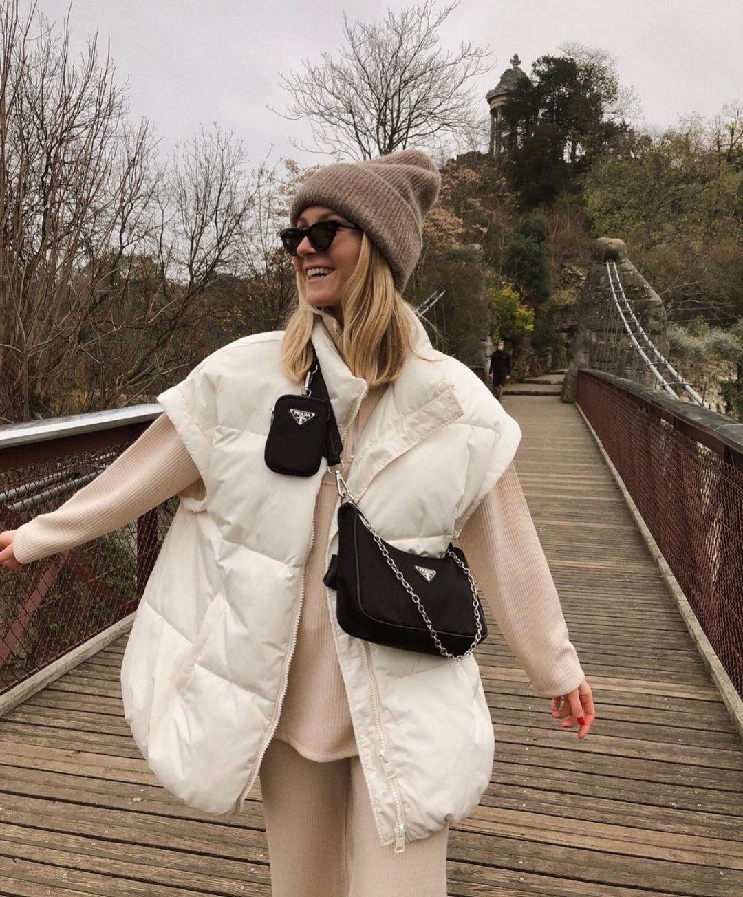 gilet imperméable en nylon oversize ®repreve de Zara sur zara.outfits
