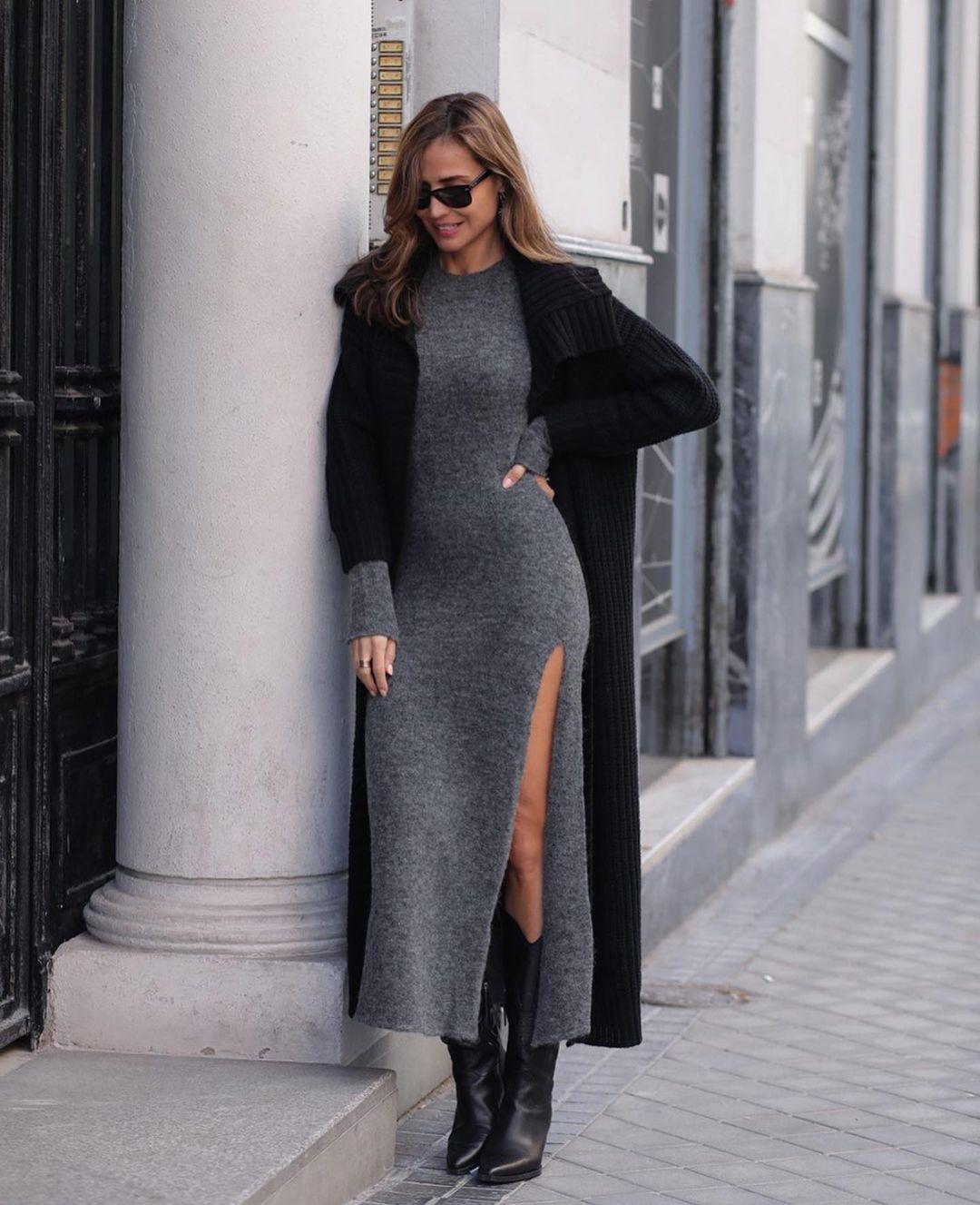 robe en maille à fente woman unit. 03 de Zara sur zara.outfits