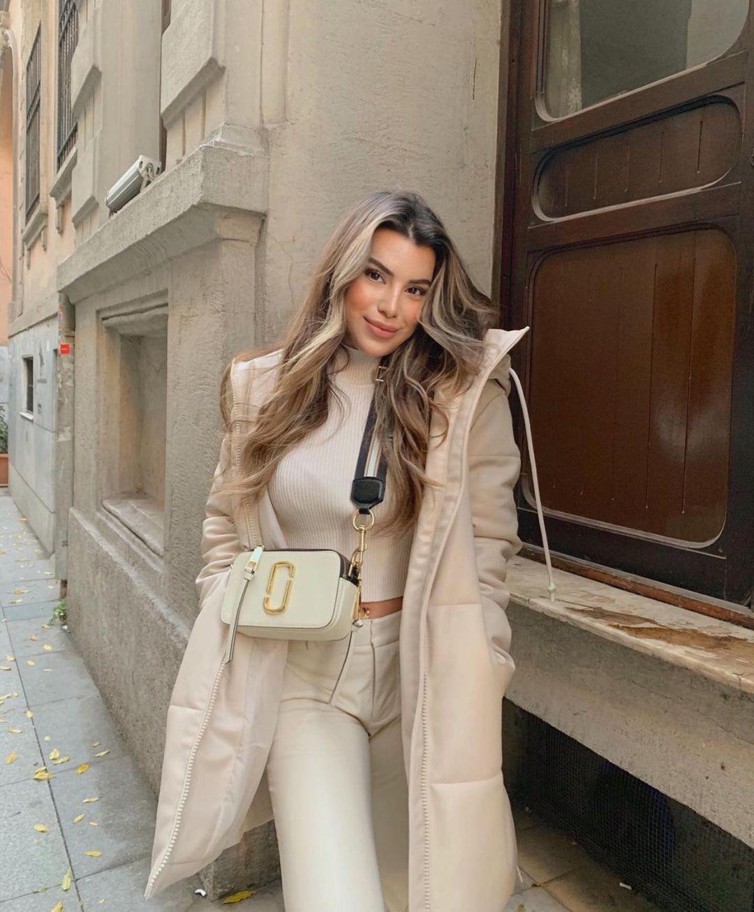 manteau rembourré en cuir synthétique de Zara sur zara.outfits