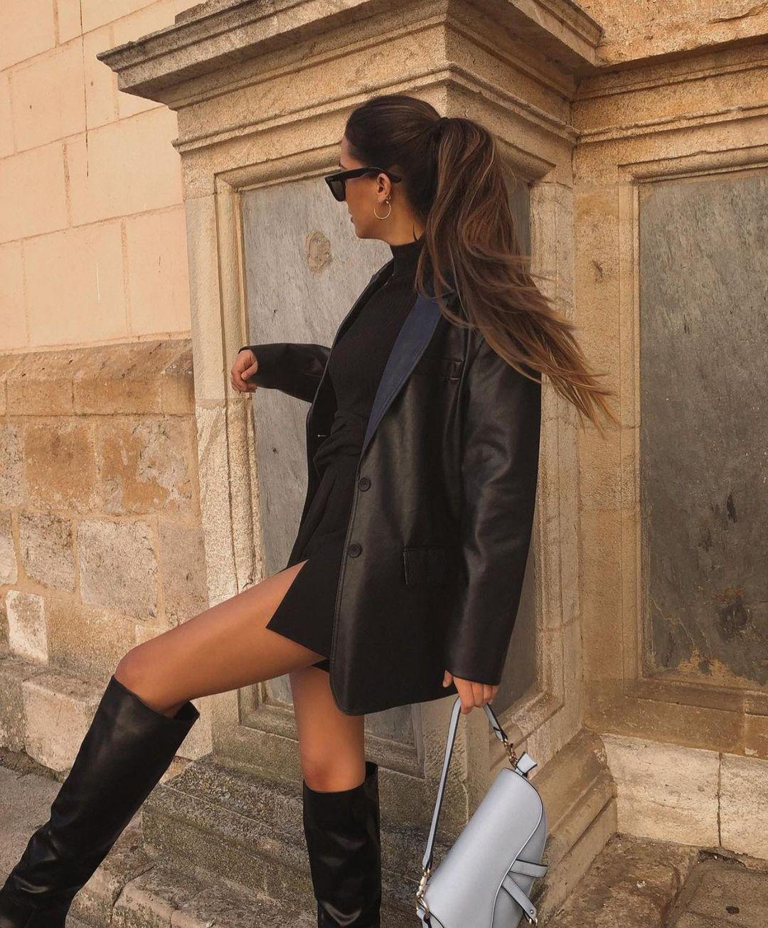 leather effect jacket de Zara sur zaraaddiction