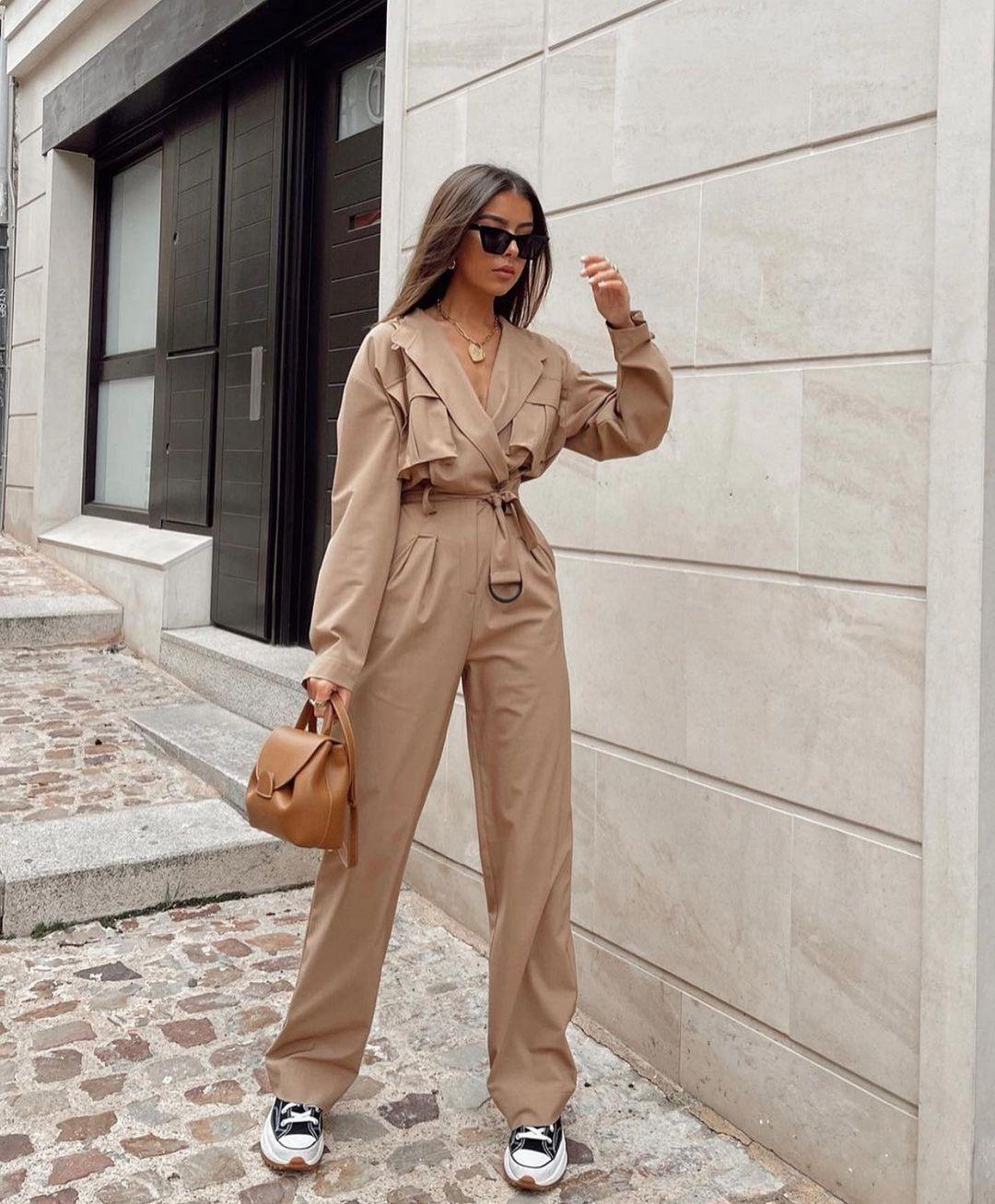 combinaison longue à poches de Zara sur zara.outfits