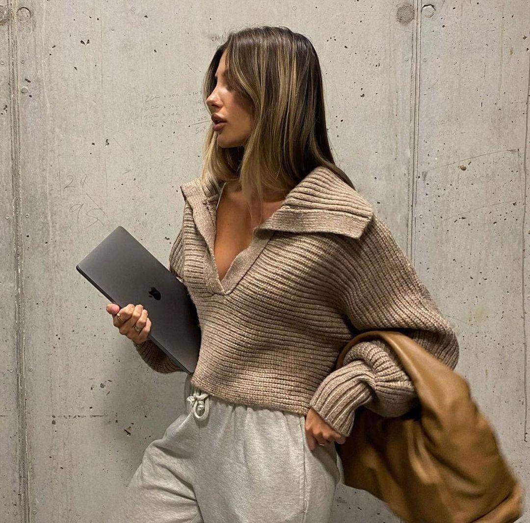 short knit sweater de Zara sur zaraaddiction