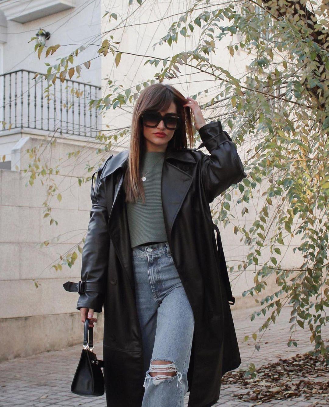 trench à boutonnage croisé imitation cuir de Zara sur zara.outfits