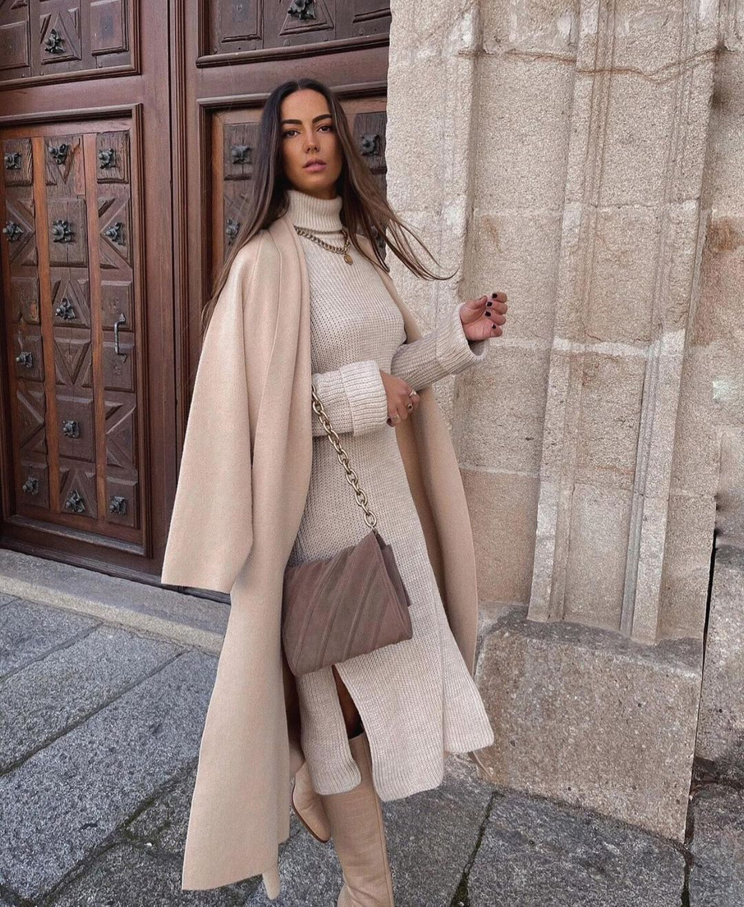 long knit coat de Zara sur zara.outfits