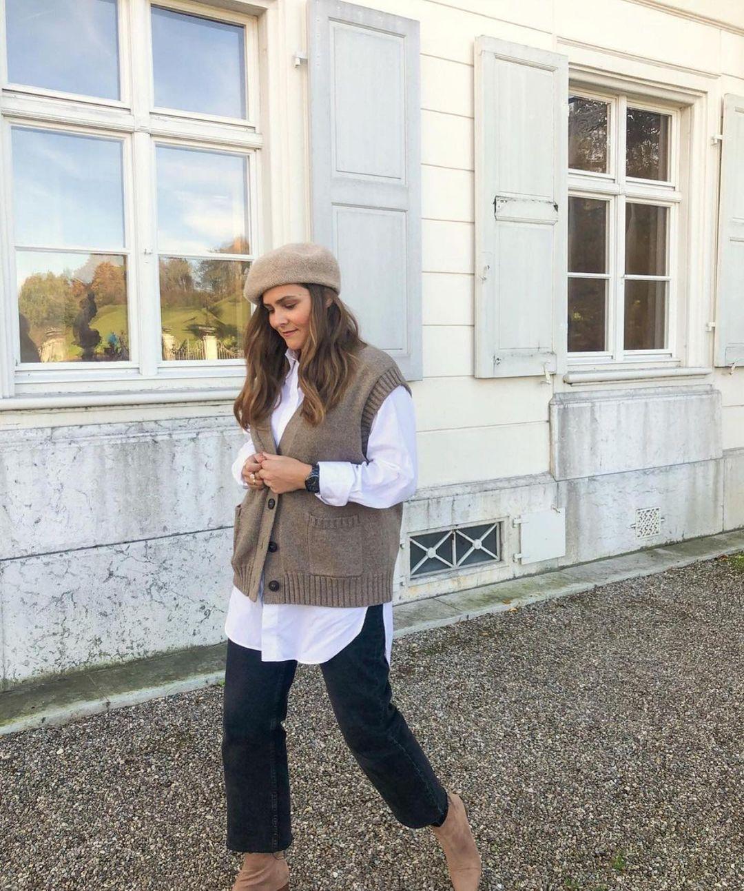gilet en maille de Zara sur zara.outfits