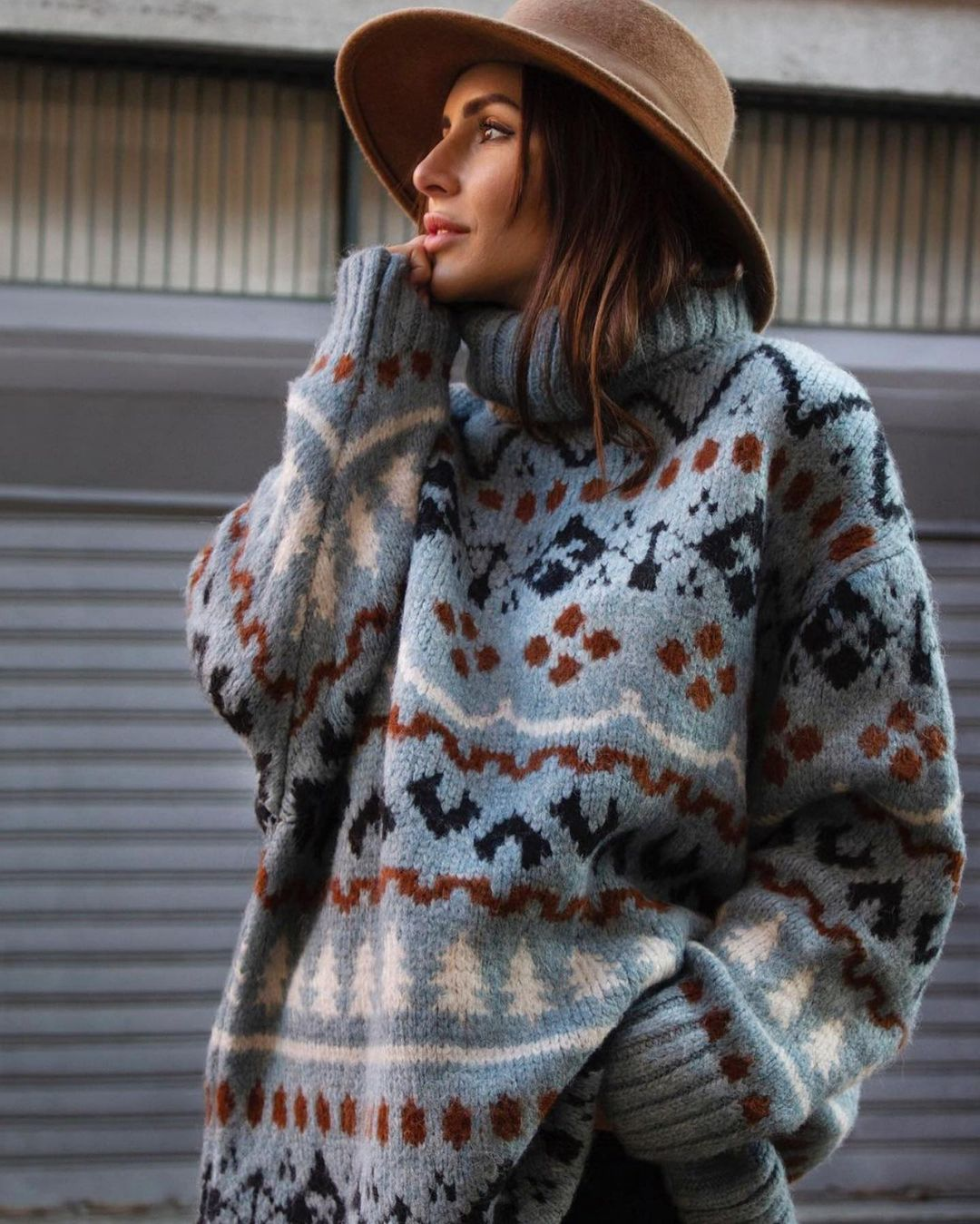 pull en maille oversize jacquard de Zara sur zara.outfits