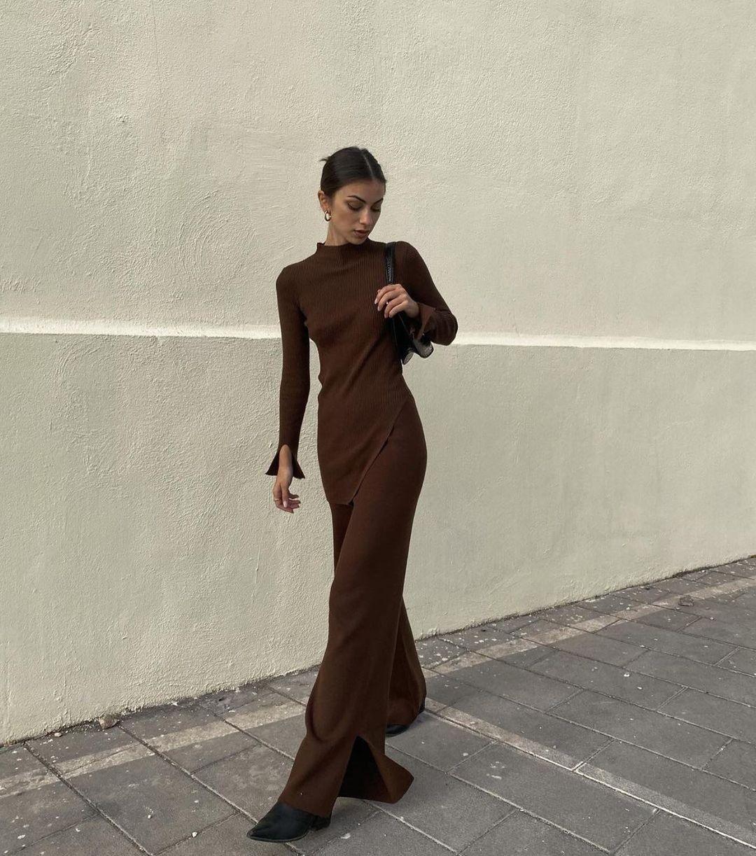 long knitted trousers de Zara sur zaraaddiction