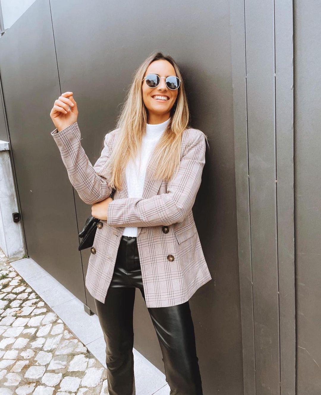 veste aspect brut à carreaux de Zara sur zara.outfits