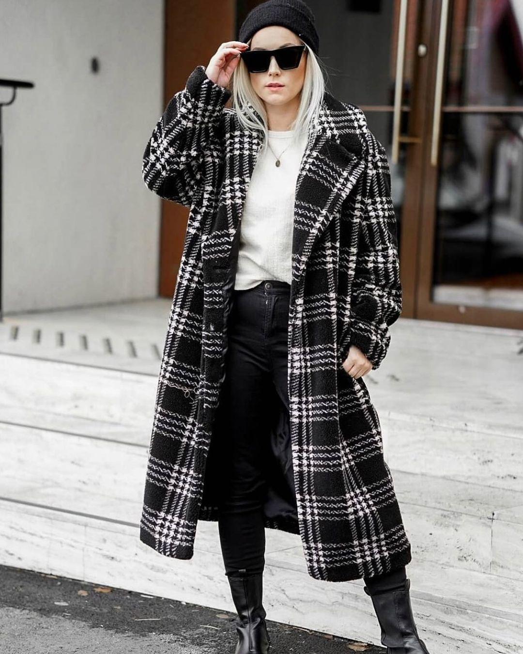 manteau en tissu peluche de H&M sur hm.addicted