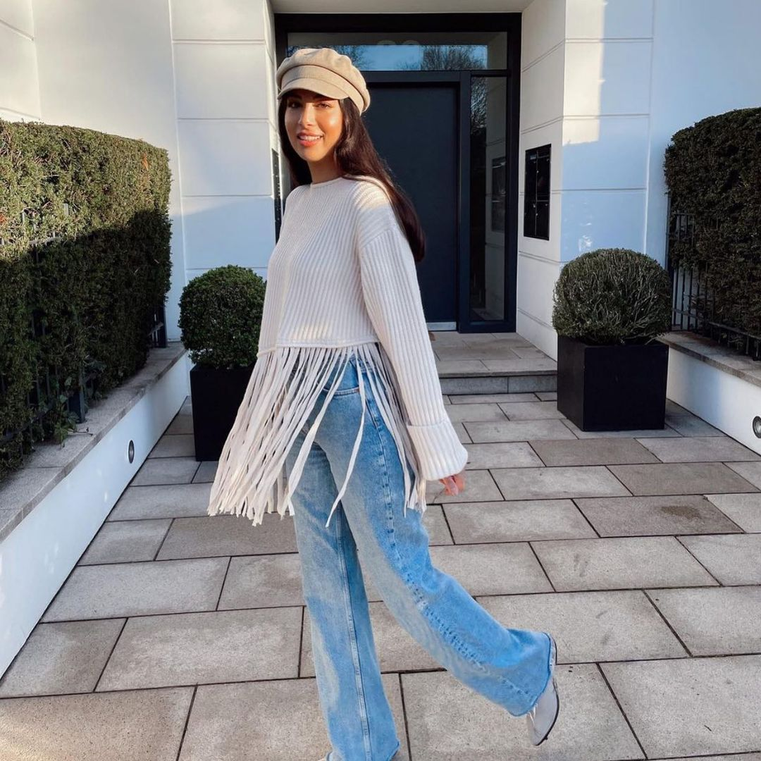 pull oversize à franges de Zara sur zara.outfits