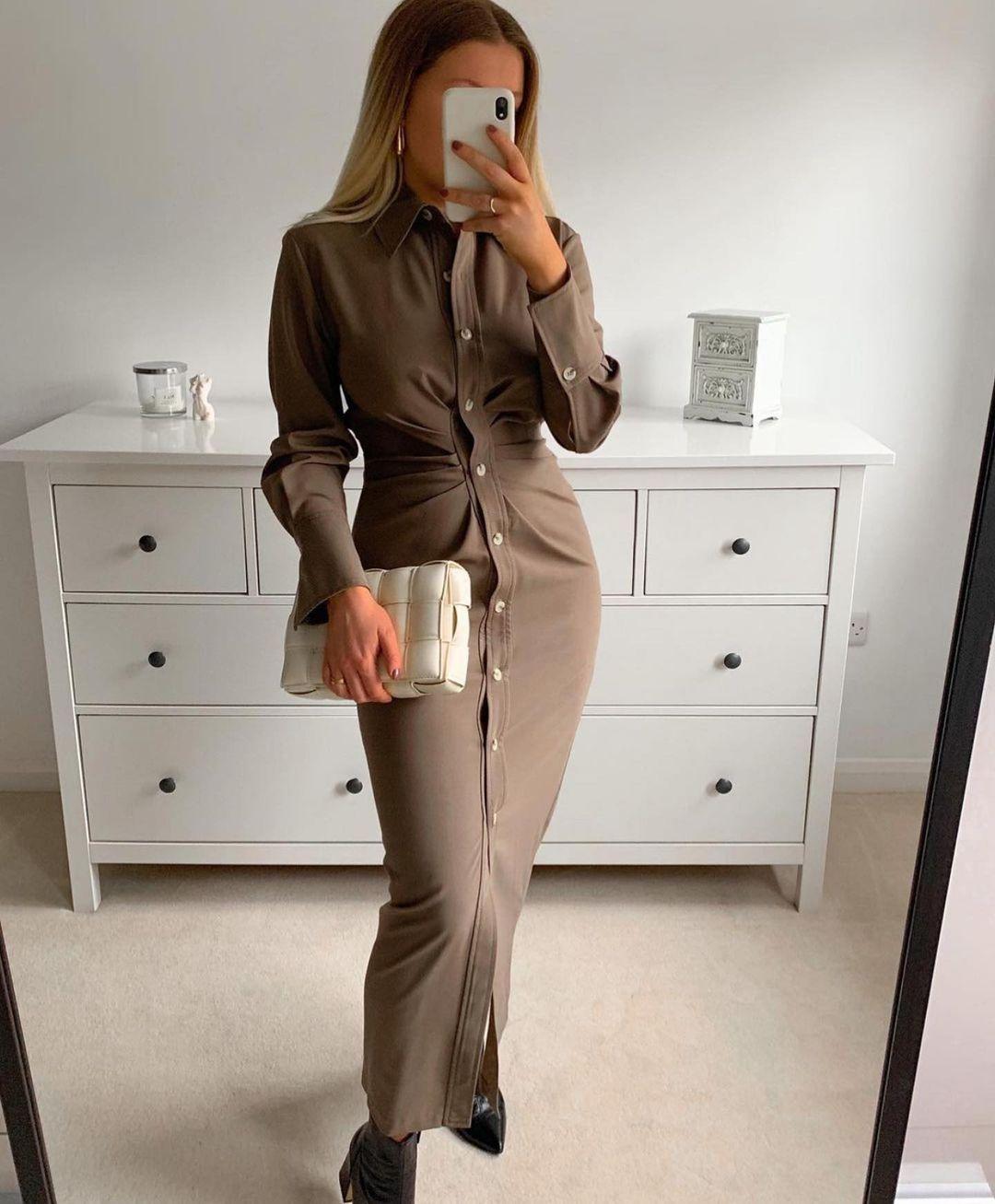 draped shirt dress de Zara sur zaraaddiction