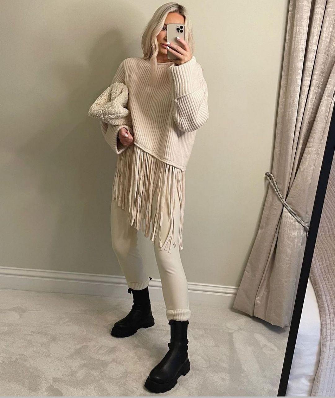 oversized fringed sweater de Zara sur zara.style.daily