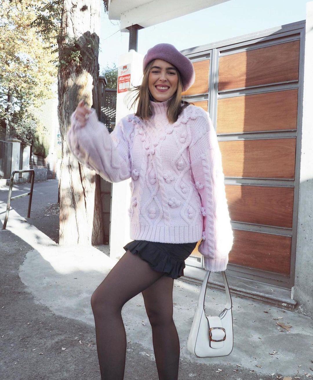 pull en maille à pompons de Zara sur zara.outfits