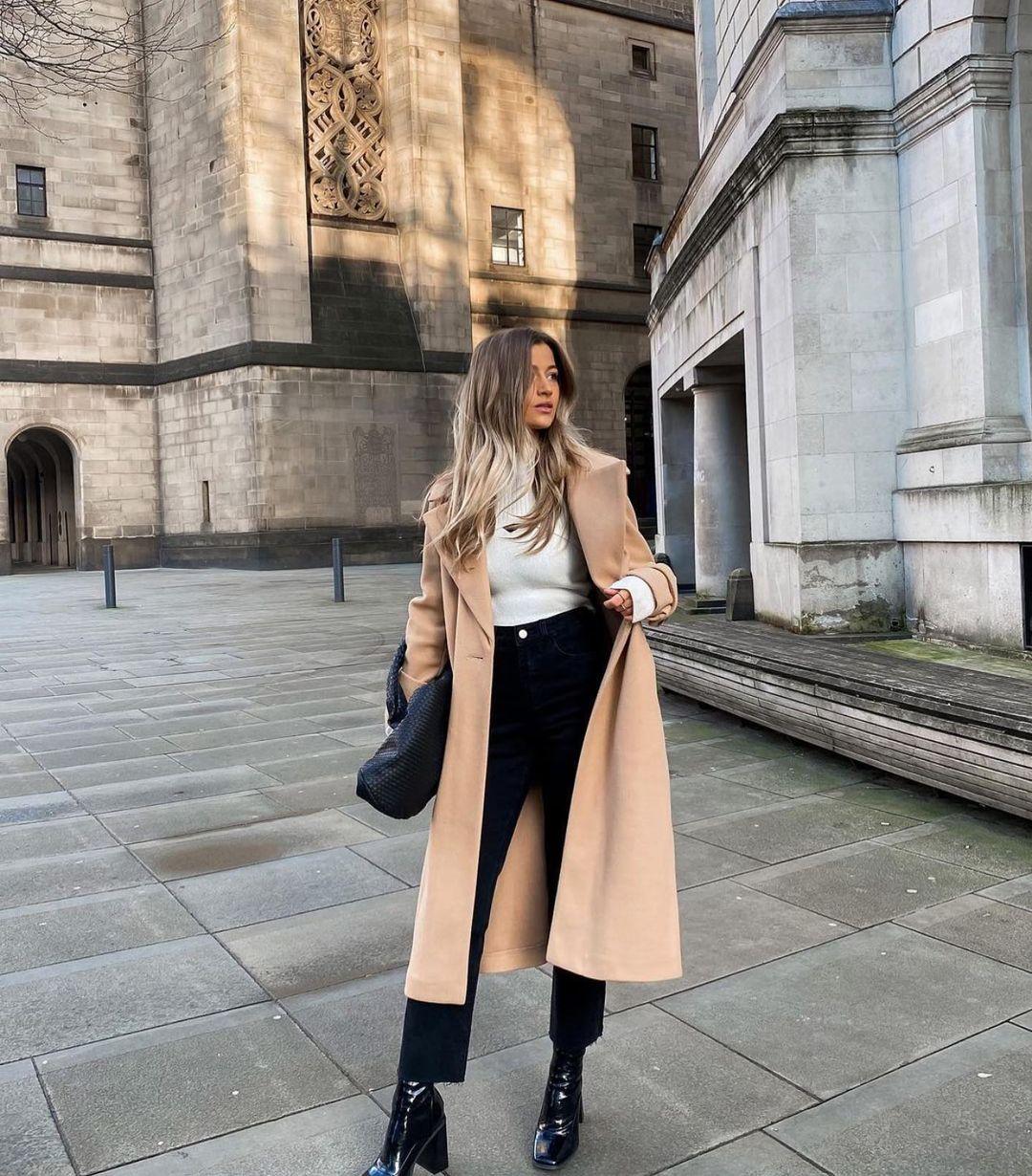 manteau en laine avec ceinture édition limitée de Zara sur zara.outfits